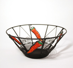 Wrought iron bowl, small chili