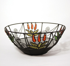Wrought iron bowl, small Aloe Vera