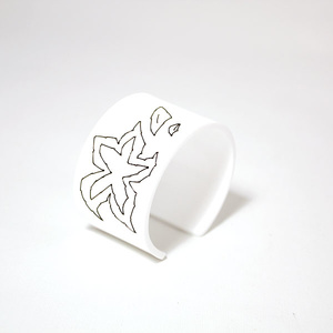 Armband Stitched, white 40 mm