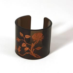 Armband Vildrosor, brons, 60 mm