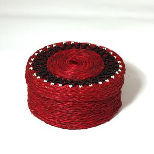 Smyckesskrin stor, röd
