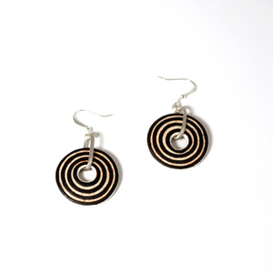 Circle, ostrich egg Earring