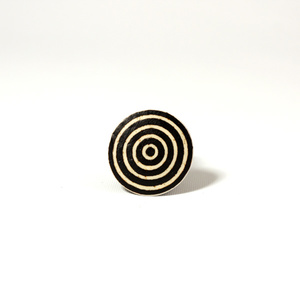 Circles, ostrich egg Ring