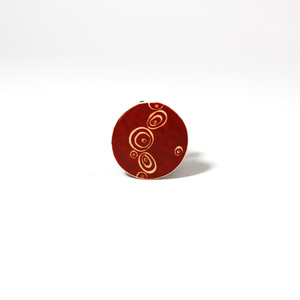 Klimt Red, ostrich egg Ring