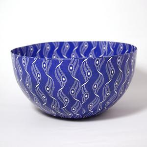 Big Shweshwe blue bowl
