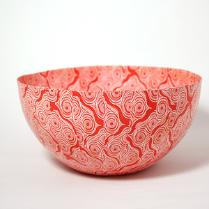 Skål stor Shweshwe röd