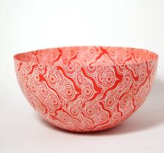 Kulho suuri Shweshwe punainen