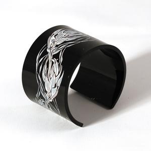 Armband Flame, svart 50 mm