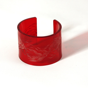 Cuff Flame, dark red 50 mm