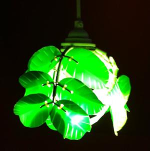 Heath Nash - Leaf Laurel mini pendant, green
