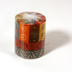 Kapula candles Pillar, Multicoloured
