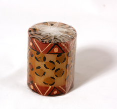 Kapula candles Pillar, Animal Print