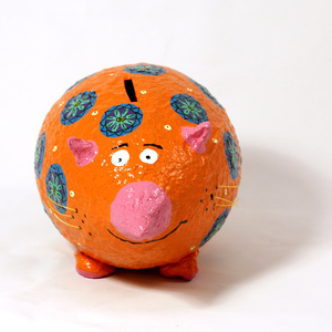 Moneybox large Mouse orange