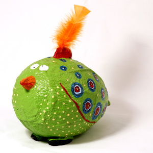 Sparbössa stor. Crazy bird grön