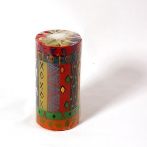 Kapula candles large Pillar, Multicoloured