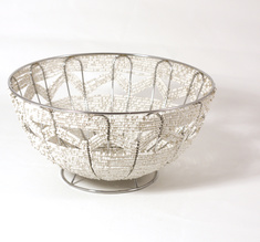 Zig zag bowl, white