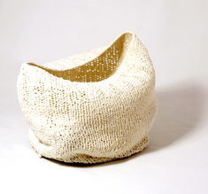 "Knitted bowl ""The boat"", big"