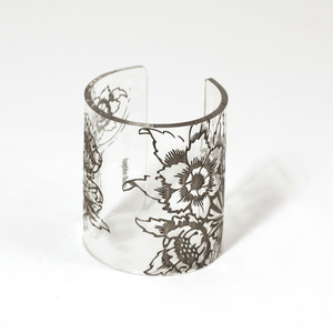Cuff, Morris Flower,  Transparent, 80 mm