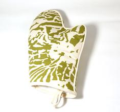 Botanical Zebra Ovenglove, Wasabi green