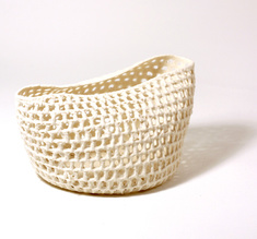 "Knitted bowl ""The basket"", big"