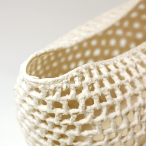 """Knitted bowl """"The basket"""", big"""