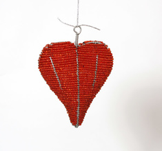 Hanging red heart medium