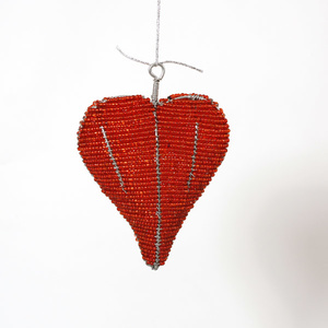 Hanging red heart large