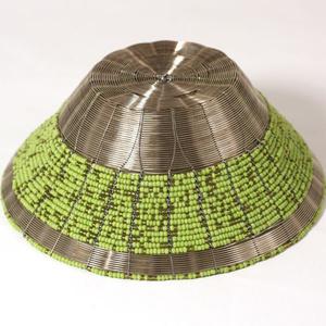 Vävd ståltrådsskål, Lime