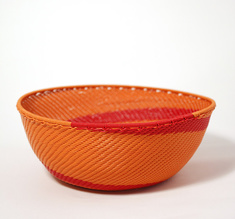 Orange & red telephone wire bowl