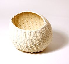 "Knitted bowl ""Round"", small"