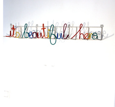 "Heath Nash - ""Its beautiful here"" Coat hanger"