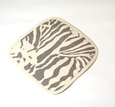 Botanical Zebra Grytlapp, Ljusgrå