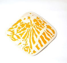 Botanical Zebra Pot holder, Butternut