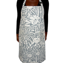 Botanical Zebra Apron, Light grey