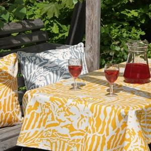 Botanical Zebra Tablecloth, Butternut