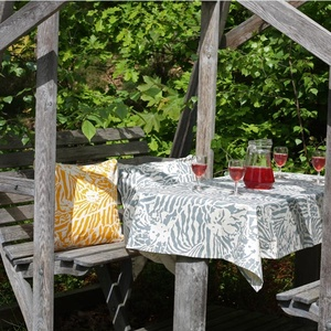 Botanical Zebra Tablecloth, Light grey