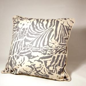 Botanical Zebra Kuddfodral, Ljusgrå