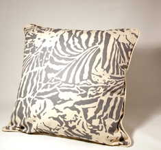 Botanical Zebra Cushion cover, Light grey