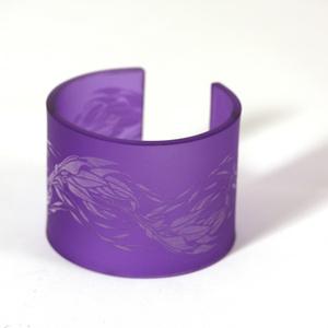 Armband Flame, aurora violet 50 mm