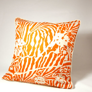 Botanical Zebra Cushion cover, Persimon