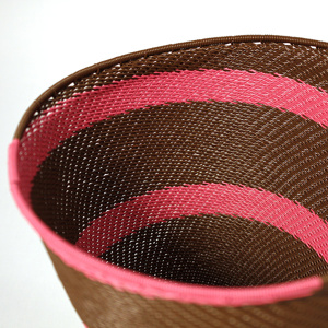 Pink & brown telephone wire bowl