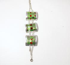 3 link bracelet, green