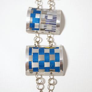 3 link Bracelet, blue